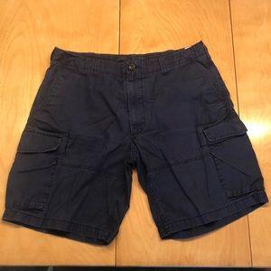 Men's Navy Polo Cargo Shorts Size 38